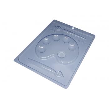 Forma de Acetato Paleta Pintura c/ Pincel N9774 - Bwb