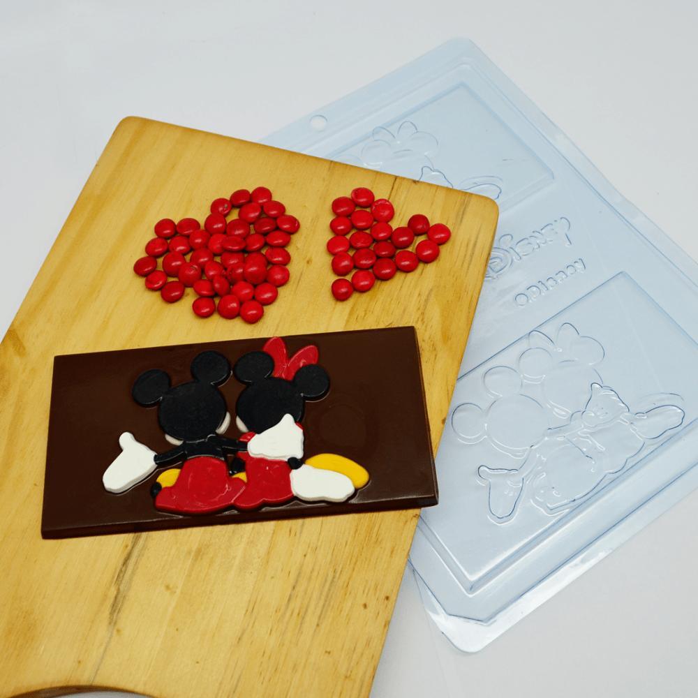 Forma de Acetato  Placa Mickey e Minnie - Bwb