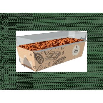 Forma para Bolo Inglês Forneável Cacau c/ Tampa c/ 10 unidades - Ideia Embalagens