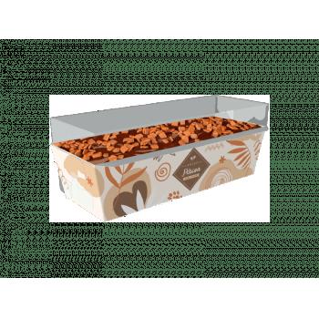 Forma para Bolo Inglês Forneável Feliz Páscoa c/ Tampa c/ 10 unidades - Ideia Embalagens