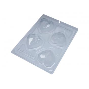 Forma Prática com Silicone Coração Lapidado N 9836– Bwb