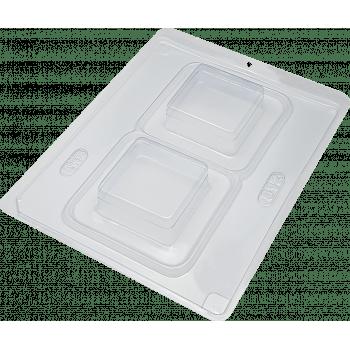 Forma Prática com Silicone Pão de mel Quadrado N812 – BWB