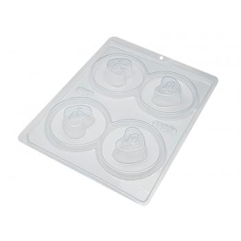 Forma Prática com Silicone Trufa Coração N800 - BWB