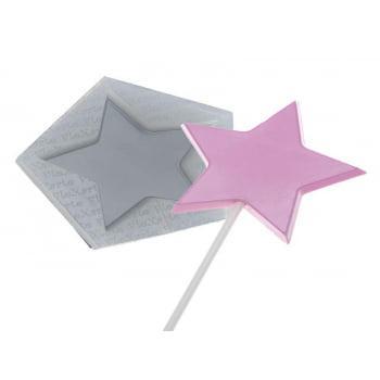 Molde de Silicone para Pirulito Pirulito Cristal Estrela 108 - Flexarte