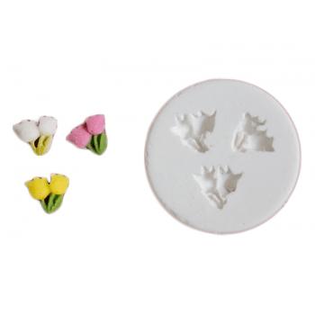 Molde de Silicone Tulipa Trio- Gummies