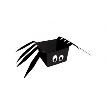 Cachepot Halloween Aranha 8x8x6 cm c/8 unidades - Cromus