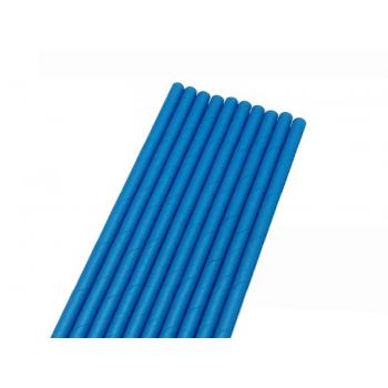 Canudo de Papel Liso Azul c/ 50 unidades - Bwb