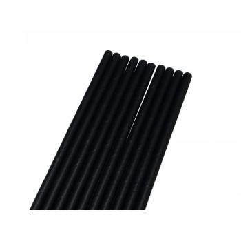 Canudo de Papel Liso Preto c/ 50 unidades - Bwb