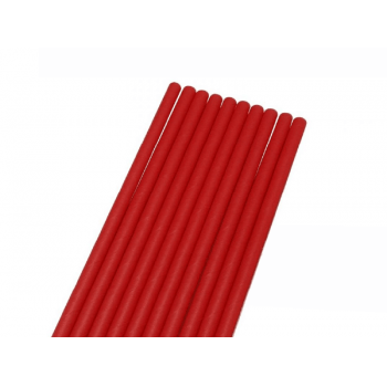 Canudo de Papel Liso Vermelho c/ 50 unidades - Bwb