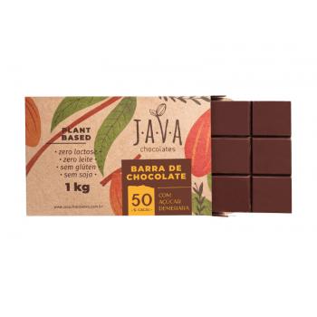 Chocolate Vegano Meio Amargo 50% 1kg - Java Chocolates
