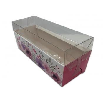 Forma para Bolo Inglês Forneável Flowers c/ Tampa c/ 10 unidades - Ideia Embalagens