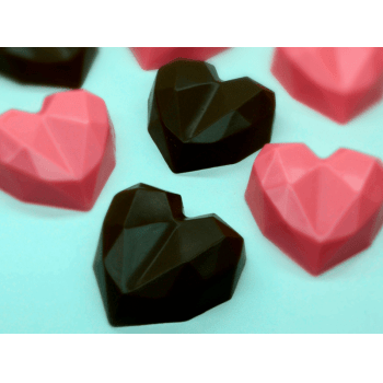 Forma de Acetato Bombom Coração Lapidado N 9835 – Bwb