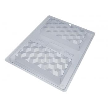 Forma Prática com Silicone Tablete Barra 3D N9891 - Bwb